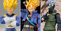 [Tamashii Web Shop] The pre-order of new 3 items, Figuarts ZERO EX Trunks, S.H.Figuarts Vegeta and Hatake Kakashi started!