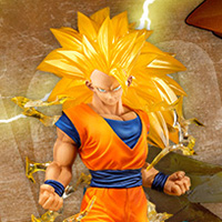 "Special Features [Dragon Ball] SON GOKOU with the ""Super Saiyan 3"" appearance will be realized in the 3D model, with the powerful effects!"