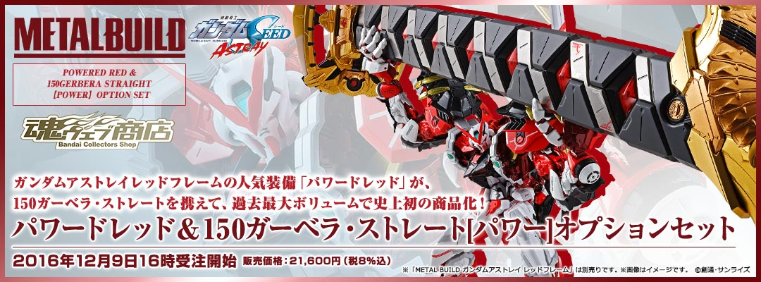 METAL BUILD Powered Red & Gerbera Straight [POWER] option set