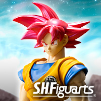 Special Features [ドラゴンボール]「スーパーサイヤ人ゴッド孫悟空」がS.H.Figuartsに登場!5/19より魂ウェブ商店にて受注開始!