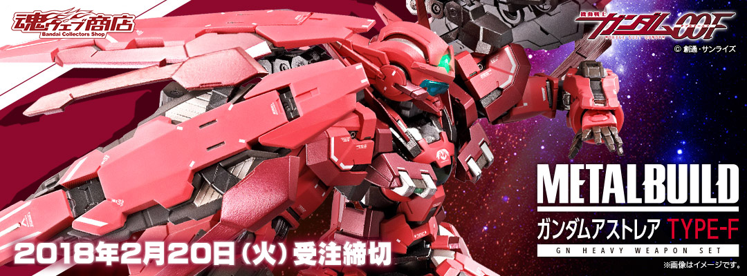 METAL BUILD ガンダムアストレア TYPE-F (GN HEAVY WEAPON SET)