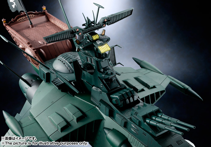 Soul of Chogokin SPACE PIRATE BATTLE SHIP ARCADIA 07