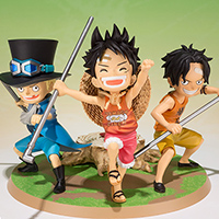 FiguartsZERO LUFFY & ACE & SABO -A Promise of Brothers-