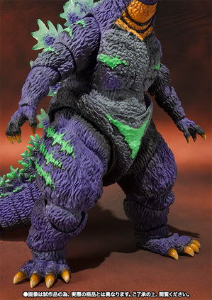 S.H.MonsterArts ゴジラ feat.EVA-01 06