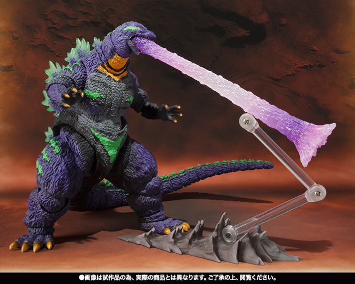 S.H.MonsterArts ゴジラ feat.EVA-01 07