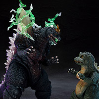 SHMonsterArts Space Godzilla & Little Godzilla Special Color Ver.