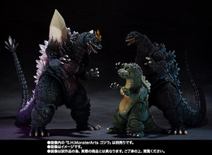 S.H.MonsterArts スペースゴジラ&リトルゴジラ Special Color Ver. 09