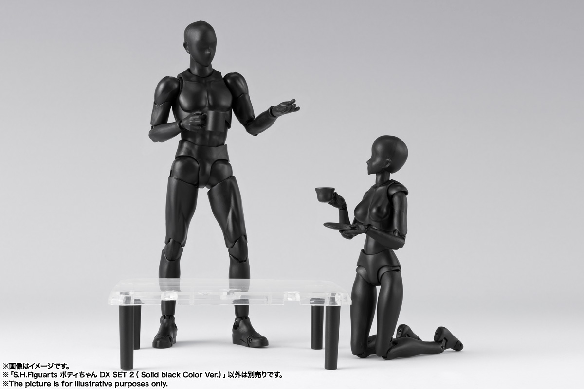 S.H.Figuarts ボディちゃん DX SET 2( Solid black Color Ver.) 12