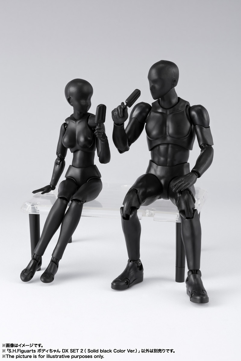 S.H.Figuarts ボディちゃん DX SET 2( Solid black Color Ver.) 13