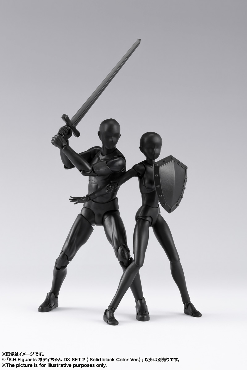 S.H.Figuarts ボディちゃん DX SET 2( Solid black Color Ver.) 14
